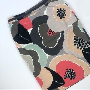 Boden Floral Print Pencil Skirt